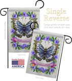 Floral Butterfly - Bugs & Frogs Garden Friends Vertical Impressions Decorative Flags HG137082 Made In USA