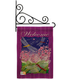 Dragonfly Paradise - Bugs & Frogs Garden Friends Vertical Impressions Decorative Flags HG104063 Made In USA