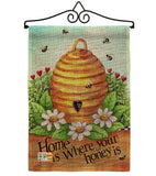 Bee Hive Home - Bugs & Frogs Garden Friends Vertical Impressions Decorative Flags HG104083 Made In USA