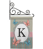 Butterflies K Initial - Bugs & Frogs Garden Friends Vertical Impressions Decorative Flags HG130141 Made In USA