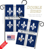 Quebec - Canada Provinces Flags of the World Vertical Impressions Decorative Flags HG108165 Made In USA
