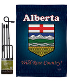 Alberta - Canada Provinces Flags of the World Vertical Impressions Decorative Flags HG108166 Made In USA
