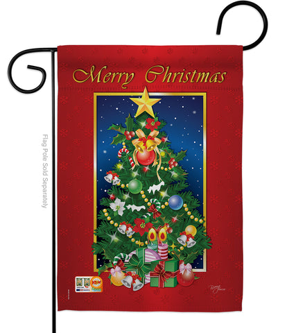 Merry Christmas Tree - Christmas Winter Vertical Impressions Decorative Flags HG114079 Imported