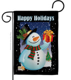 Holiday Snowman - Christmas Winter Vertical Impressions Decorative Flags HG114080 Made In USA