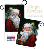 Santa Portrait - Christmas Winter Vertical Impressions Decorative Flags HG114095 Made In USA