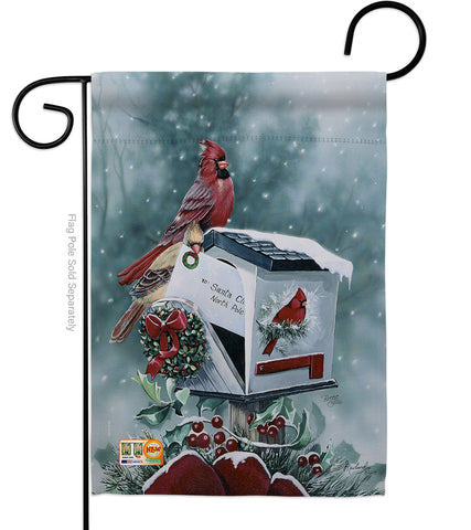 Christmas Cardinals - Christmas Winter Vertical Impressions Decorative Flags HG114096 Made In USA