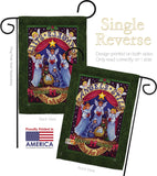 Sing for Him - Christmas Winter Vertical Impressions Decorative Flags HG114117 Made In USA