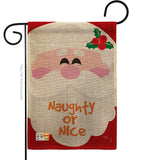 Naughty Or Nice - Christmas Winter Vertical Impressions Decorative Flags HG114153 Made In USA