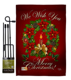 We Wish You - Christmas Winter Vertical Impressions Decorative Flags HG114003 Made In USA