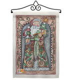 Santa Toys And Lamp - Christmas Winter Vertical Impressions Decorative Flags HG114128 Made In USA