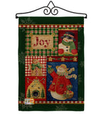 Joy Snow Woman - Christmas Winter Vertical Impressions Decorative Flags HG114134 Made In USA