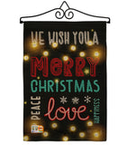Lightful Merry Christmas Love - Christmas Winter Vertical Impressions Decorative Flags HG114144 Made In USA