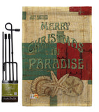 Xmas in Paradise - Christmas Winter Vertical Impressions Decorative Flags HG114165 Made In USA
