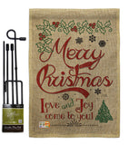 Love and Joy Linen - Christmas Winter Vertical Impressions Decorative Flags HG114167 Made In USA
