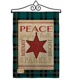 Merry with Brighting Stars - Christmas Winter Vertical Impressions Decorative Flags HG114179 Made In USA