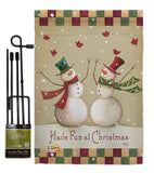 Have Fun at Christmas - Christmas Winter Vertical Impressions Decorative Flags HG114187 Made In USA