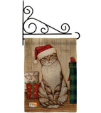 Christmas Kitty - Christmas Winter Vertical Impressions Decorative Flags HG114192 Made In USA