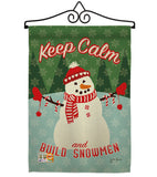 Keep Calm Build Snowmen - Christmas Winter Vertical Impressions Decorative Flags HG114198 Made In USA