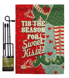 Season Sweet Kisses - Christmas Winter Vertical Impressions Decorative Flags HG114199 Made In USA
