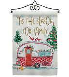 Season For Family - Christmas Winter Vertical Impressions Decorative Flags HG114202 Made In USA
