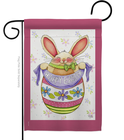 Egg Bunny - Easter Spring Vertical Impressions Decorative Flags HG103041 Made In USA