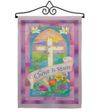 Christ is Risen - Easter Spring Vertical Impressions Decorative Flags HG103043 Made In USA