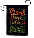 Worry Less - Expression Inspirational Vertical Impressions Decorative Flags HG137184 Made In USA