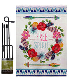Free Spirit - Expression Inspirational Vertical Impressions Decorative Flags HG137006 Made In USA