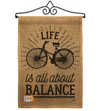 Life Is All About Balance - Expression Inspirational Vertical Impressions Decorative Flags HG137117 Made In USA