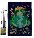 Our Mother Earth - Expression Inspirational Vertical Impressions Decorative Flags HG192182 Made In USA