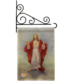 Sacred Heart - Faith & Religious Inspirational Vertical Impressions Decorative Flags HG103046 Made In USA