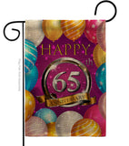 Happy 65th Anniversary - Family Special Occasion Vertical Impressions Decorative Flags HG115196 Made In USA