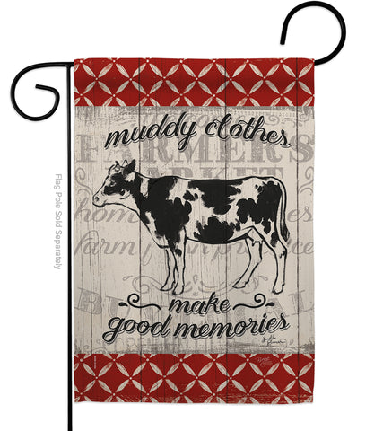 Farm Cow - Farm Animals Nature Vertical Impressions Decorative Flags HG110121 Made In USA