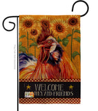 Country Rooster - Farm Animals Nature Vertical Impressions Decorative Flags HG110129 Made In USA