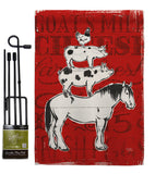 Farm Life - Farm Animals Nature Vertical Impressions Decorative Flags HG110122 Made In USA