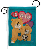 Love Dad - Father's Day Summer Vertical Impressions Decorative Flags HG115036 Made In USA