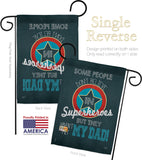 Superhero Dad - Father's Day Summer Vertical Impressions Decorative Flags HG115104 Made In USA
