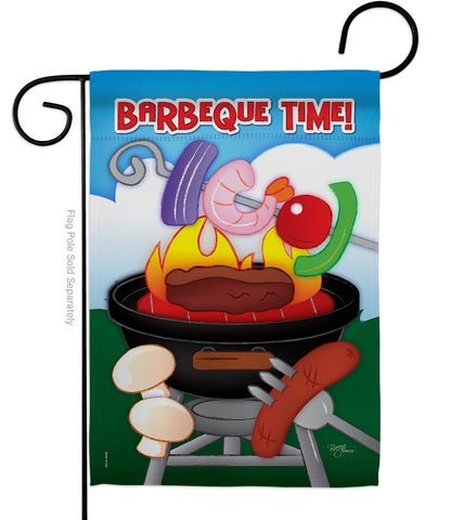 Barbeque Time - Fun In The Sun Summer Vertical Impressions Decorative Flags HG106053 Imported