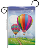 Balloon Festival - Fun In The Sun Summer Vertical Impressions Decorative Flags HG106058 Made In USA