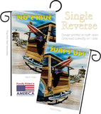 Beach Wagon - Fun In The Sun Summer Vertical Impressions Decorative Flags HG106068 Made In USA