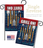 Grill On - Fun In The Sun Summer Vertical Impressions Decorative Flags HG106086 Made In USA