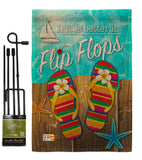 Better in Flip Flops - Fun In The Sun Summer Vertical Impressions Decorative Flags HG106003 Made In USA