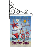 Chunky Dunk - Fun In The Sun Summer Vertical Impressions Decorative Flags HG106004 Made In USA