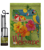Welcome Tropical - Fun In The Sun Summer Vertical Impressions Decorative Flags HG106066 Made In USA
