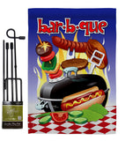 Bar B Que - Fun In The Sun Summer Vertical Impressions Decorative Flags HG106071 Made In USA