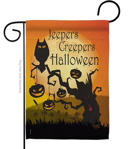 Jeepers Creepers - Halloween Fall Vertical Impressions Decorative Flags HG112008 Made In USA