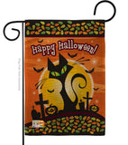 Halloween Black Cat - Halloween Fall Vertical Impressions Decorative Flags HG112050 Made In USA