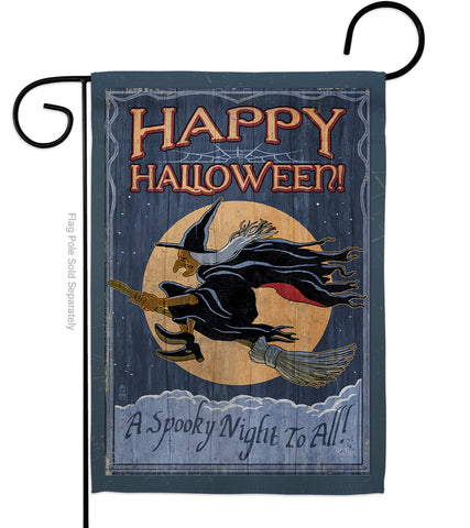 A Spooky Night To All - Halloween Fall Vertical Impressions Decorative Flags HG112063 Made In USA
