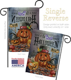 Faboolous - Halloween Fall Vertical Impressions Decorative Flags HG112068 Made In USA