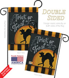 Black Cat Creeping - Halloween Fall Vertical Impressions Decorative Flags HG112075 Made In USA